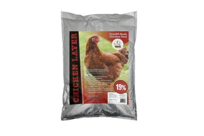 OverEZ Chicken Layer Feed (19%), Omega Fortified, Natural, GMO-free, Soy-free, - Mash