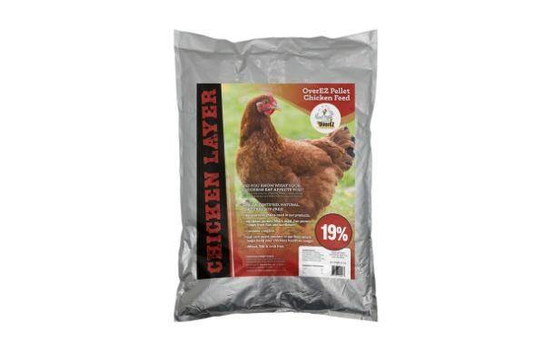 OverEZ Chicken Layer Feed (19%) Omega Fortified, Natural, GMO-free, Soy-free - Pellets