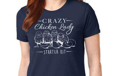 Crazy Chicken Lady Women's T-Shirt
