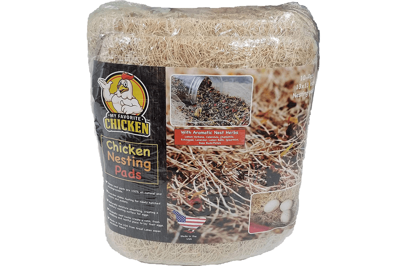 Chicken Nesting Pads with Aromatic Herbs