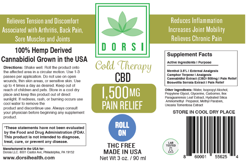 1500 MG Extra Strength Roll On Topical Pain Relief