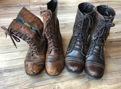 new and old leather boots, how to break in new leather