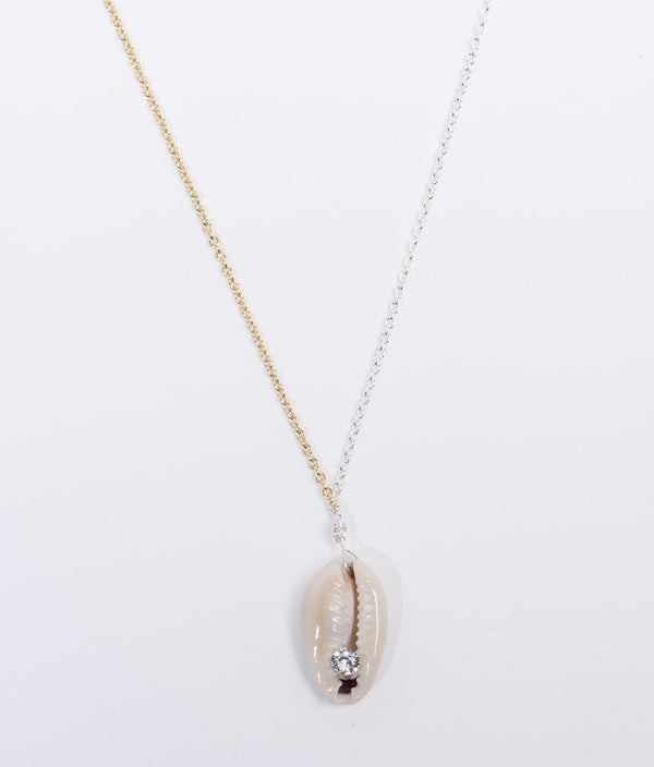 JUST A FRIEND NATURE SHELL NECKLACE