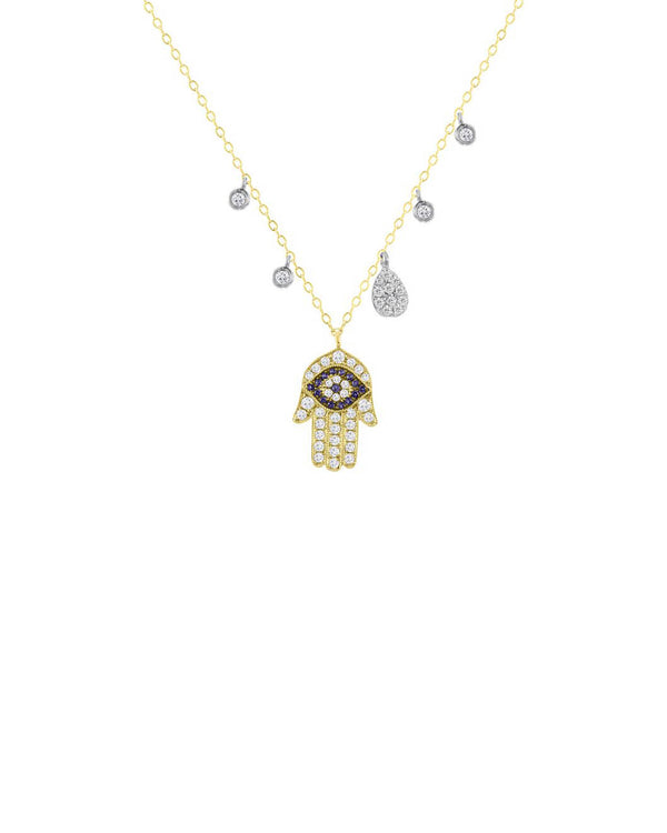 HAMSA & EVIL EYE NECKLACE