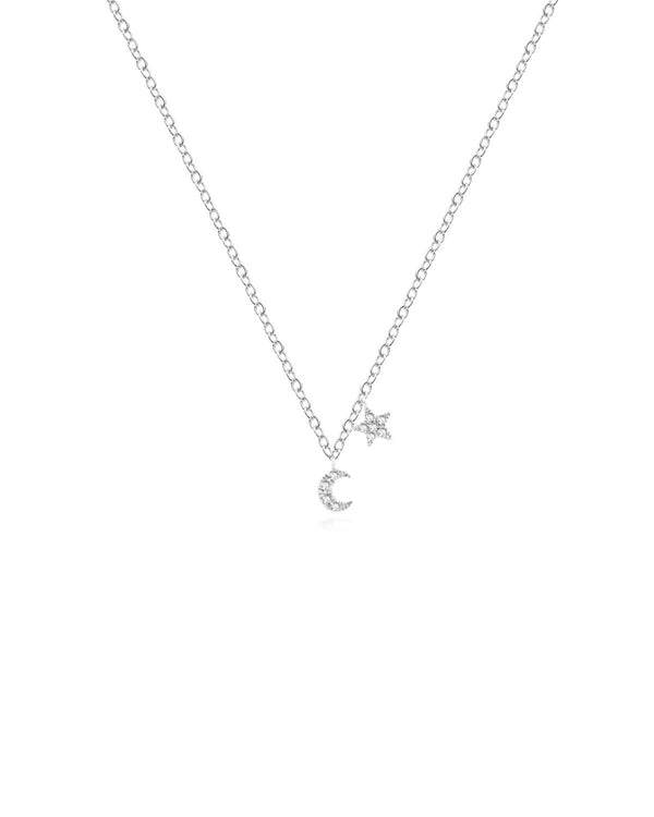 MINI MOON & STAR NECKLACE