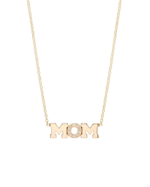 MOM PAVE NECKLACE - FAIRYDUST_JEWELRY
