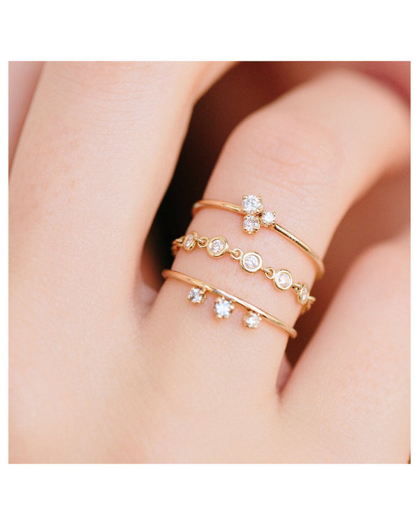 3 MIXED DIAMONDS GOLD RING - FAIRYDUST_JEWELRY