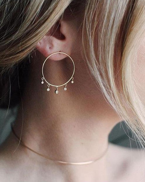 CIRCLE HOOP EARRING