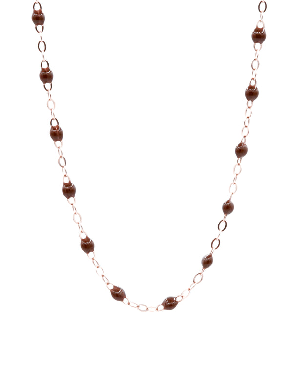 CHOCO MINI PEARL MEDIUM NECKLACE