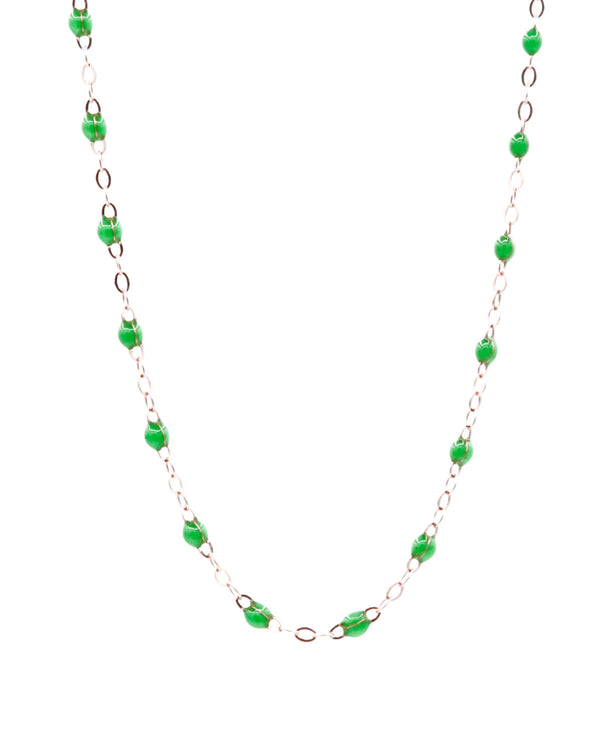 GREEN MINI PEARL LONG NECKLACE
