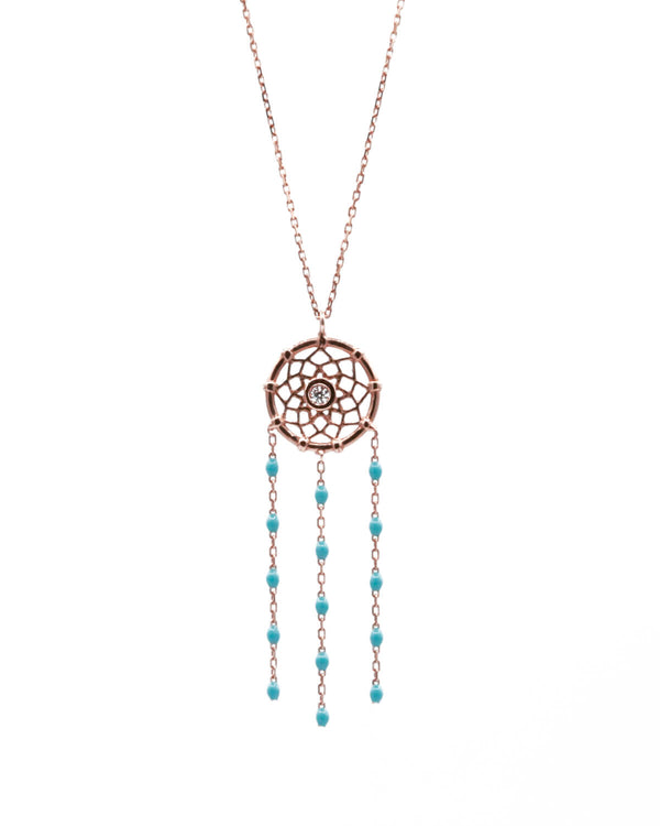 DREAM CATCHER TURQUOISE NECKLACE