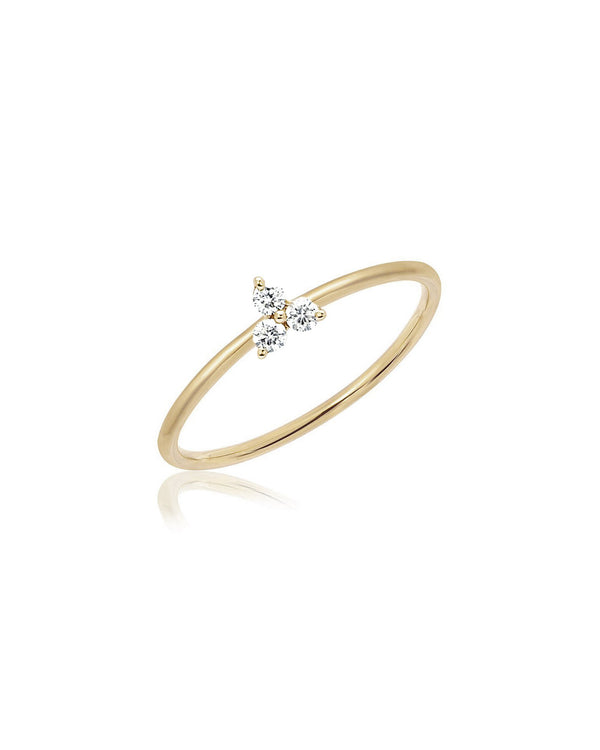 DIAMOND TRIO STACK RING