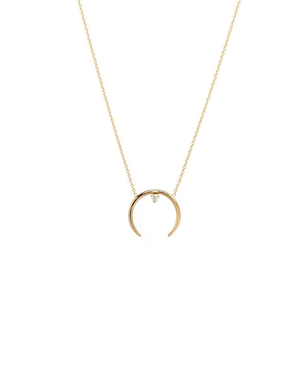HORN PRONG DIAMOND NECKLACE