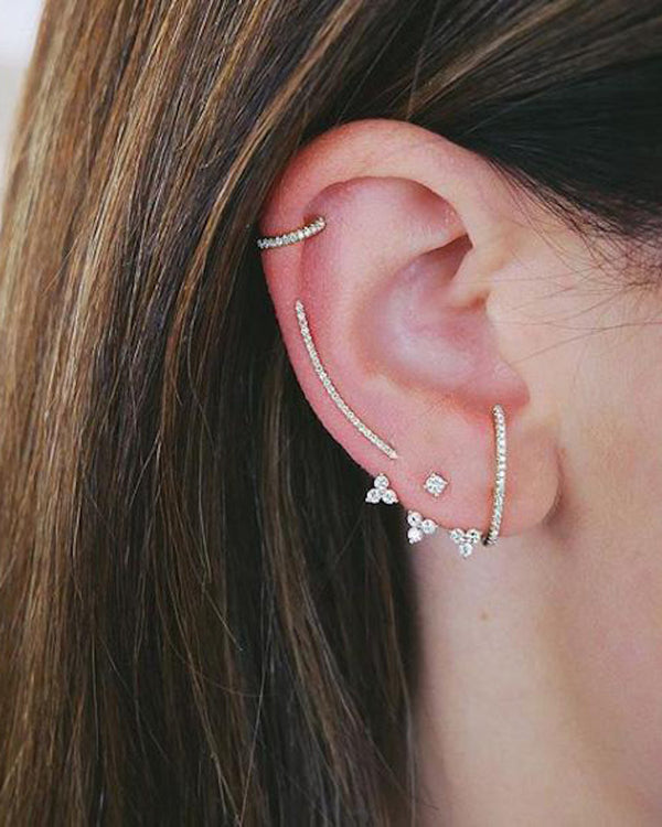 DIAMOND ULTRA HUGGIE EARRING