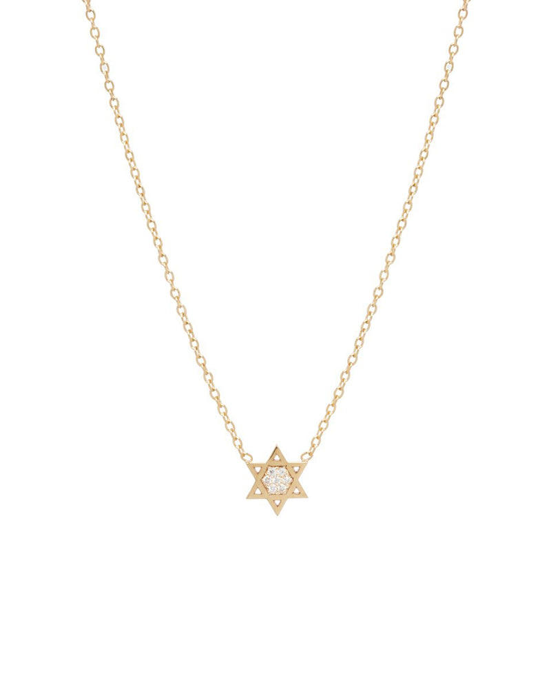 MIDI BITTY PAVE STAR OF DAVID NECKLACE