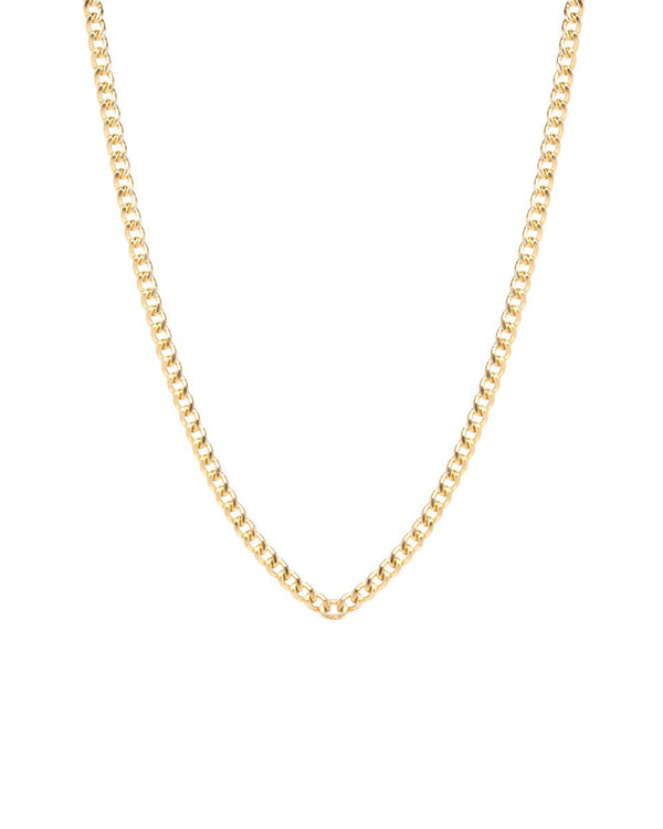 GOLD SMALL CURB CHAIN NECKLACE