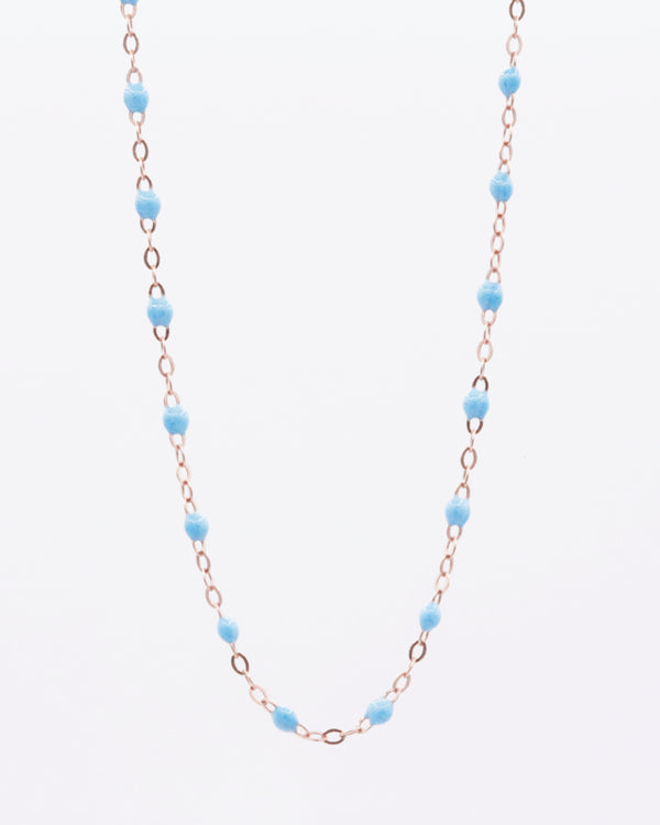 LONG BABY BLUE NECKLACE