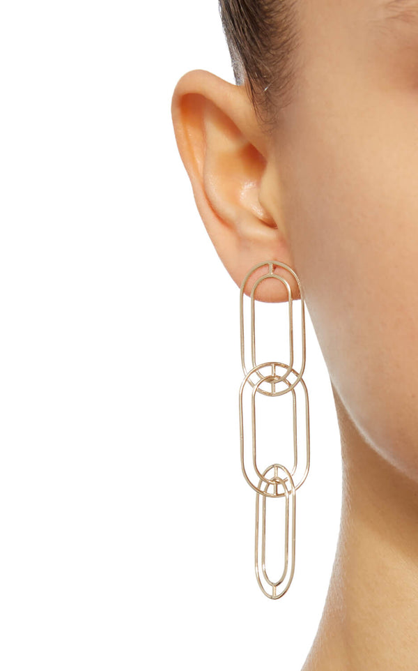 LARGE LINK EARRING