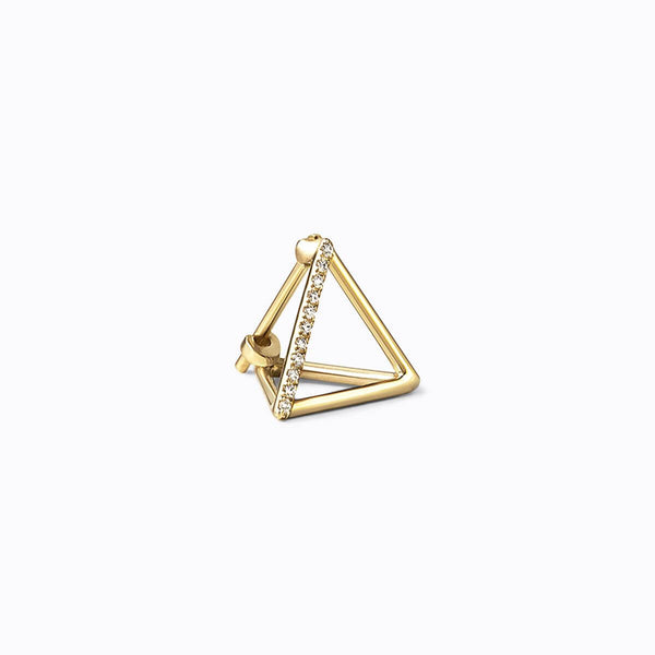 SMALL TRIANGLE 3D DIAMOND EARRING