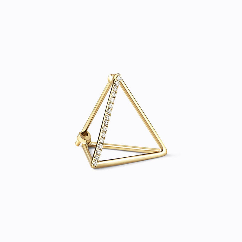 MEDIUM TRIANGLE 3D DIAMOND EARRING