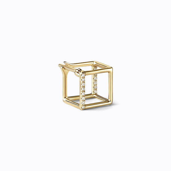 SMALL SQUARE 3D DIAMOND EARRING