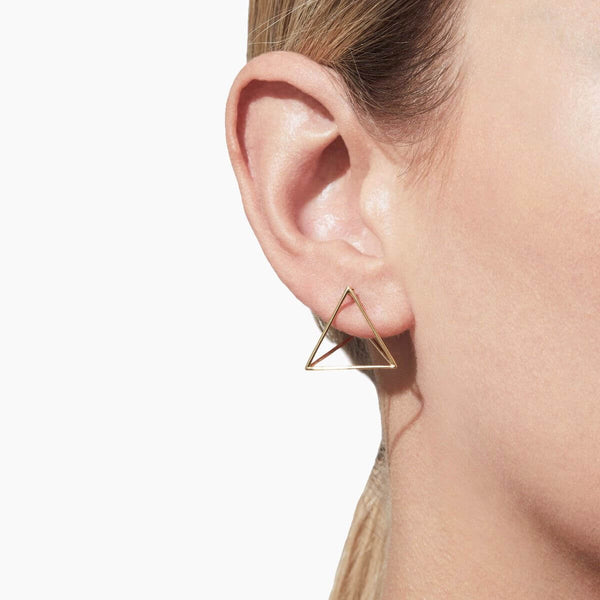 MEDIUM TRIANGLE 3D EARRING