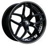 HD Wheels Overdrive Gloss Black Machined Undercut