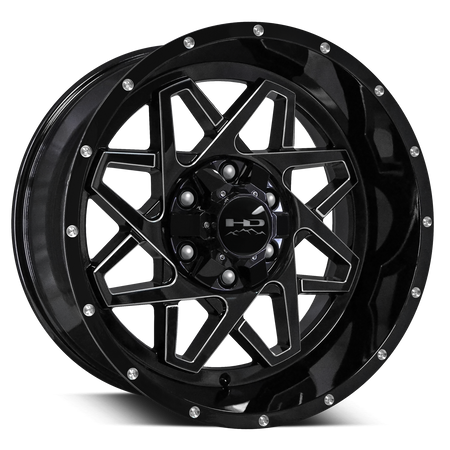 HD Off-Road Gridlock Gloss Black Milled