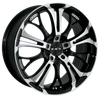HD Wheels Spinout Gloss Black Machined Face