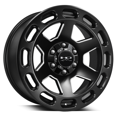 HD Off-Road Axle Satin Black Milled