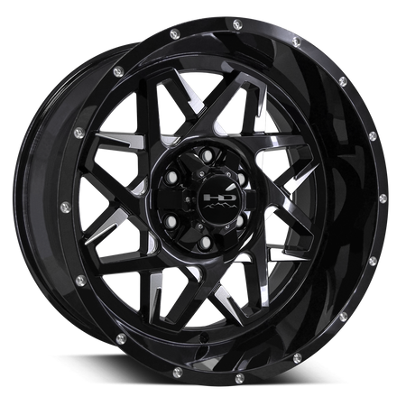 HD Off-Road Hook Battle Edition Gloss Black w Milled Spokes