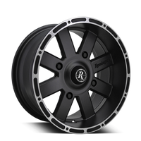 8-Point ATV/UTV | Satin Black Machined Lip Edge