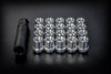 "Open End Spline Lug Nuts ""Small"" - 20 Pack with Spline Key"