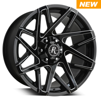 Remington Off-Road Wheels Canyon Black Milled Edges
