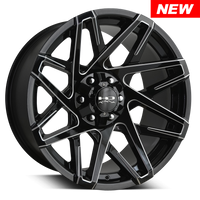 HD Off-Road Wheels Canyon Black Milled Edges