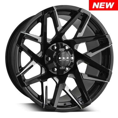 HD Off-Road Wheels Canyon Black Milled Battle Edition