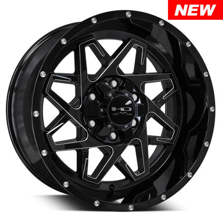 Caliber | Gloss Black w Milled Spoke Edge