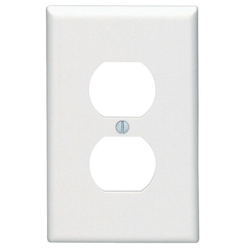 Leviton 1 Gang Receptacle Wall Plates feature rounded edges with a clean white smooth finish for a classic look. These wall plates easily blend in with any decor, are easy to install and economically priced. UPC 078477211885