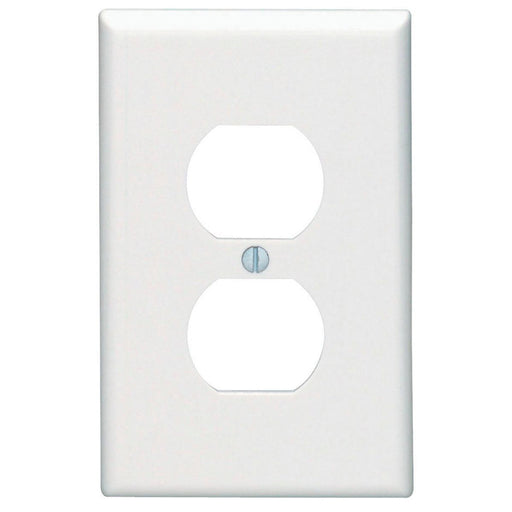 Leviton 1 Gang Receptacle Wall Plates feature rounded edges with a clean white smooth finish for a classic look. These wall plates easily blend in with any decor, are easy to install and economically priced. SKU#: PJ8-W UPC: 078477153482  078477211892