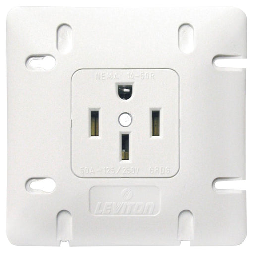 New Design 50 Amp Dryer Range Receptacle, Flush Mount, Single, 3-Pole, 4 Wire with Grounding Industrial Spec Grade,SKU#: 1279-S50 1279752 UPC: 078477695500