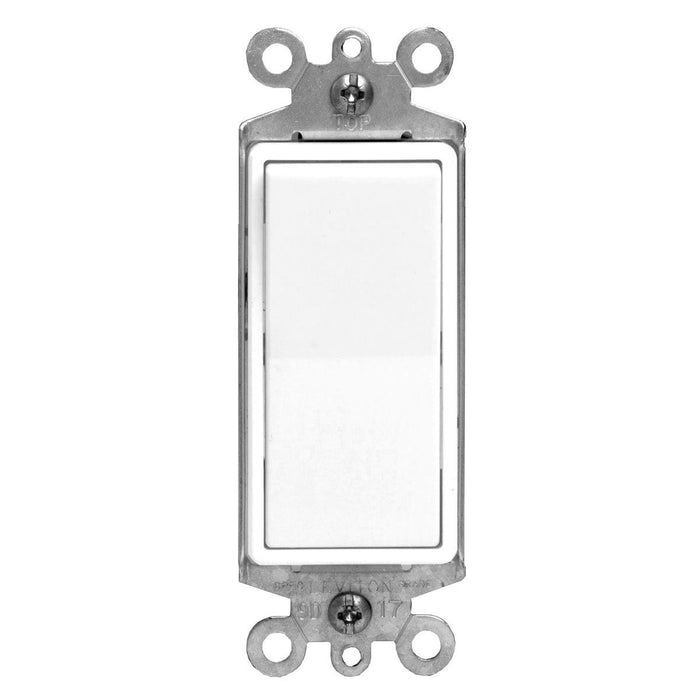 Decora Rocker Light Switches from Leviton are made from thermoplastic to ensure it's longevity. Its smooth white finish shields against dust, making it easy to clean. Decora Rocker Switches feature quick-wire push-in for a quick and easy installation. SKU#: 5601-2W 05601M32 UPC: 078477800805