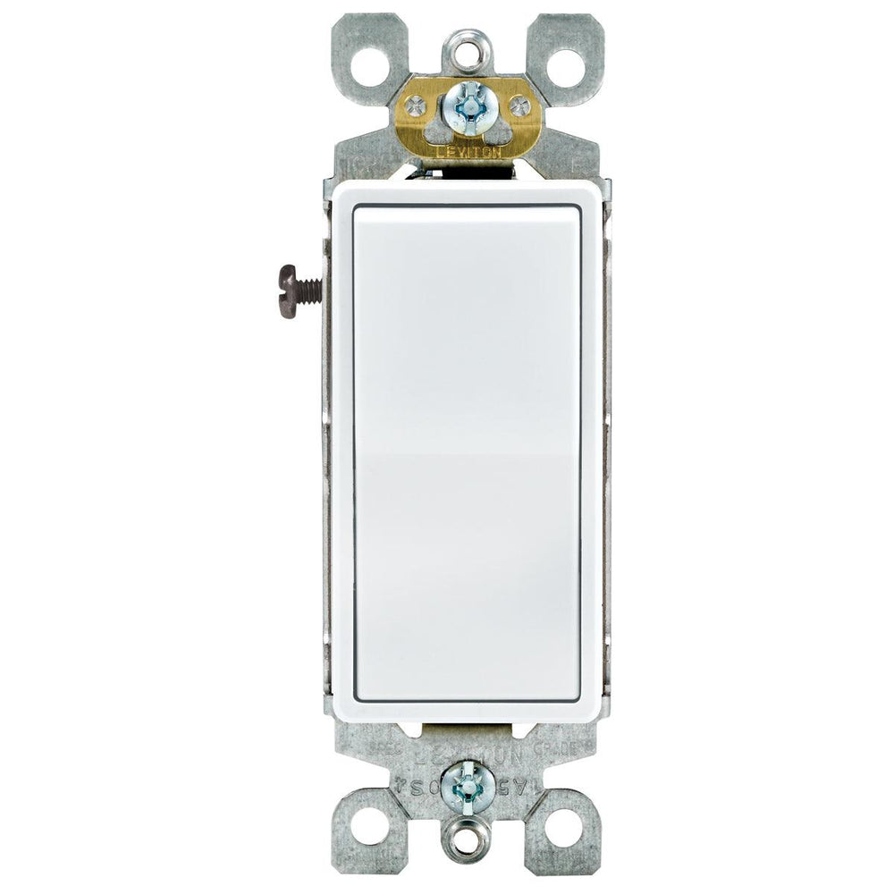 Leviton light switches are economically priced and will compliment any room in your home. Model: 5603 UPC: 078477608395