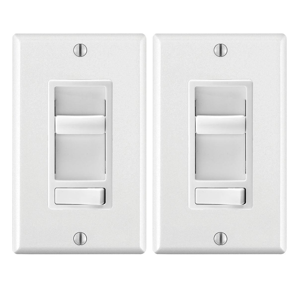 The Leviton Decora SureSlide dimmer with Preset switch allows you to easily modify the brightness of your Incandescent, and dimmable LED and CFL lights with the touch of a finger. It's on/off switch allows you to retain your preferred dimming settings, while providing you with a simple and easy way to enhance the atmosphere in your home.