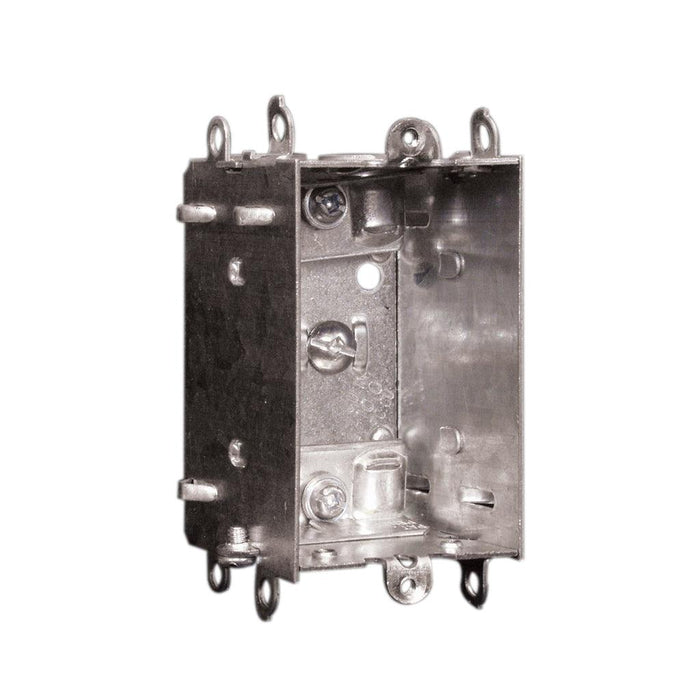 "Device Box 2X3X2"" LHU- Device Boxes are used for outlets, switches, ceiling fixtures, and small junction boxes. They keep wires dry and are popular for surface mounted applications. SKU: HUB1102LHUBAR UPC: 626463020722"