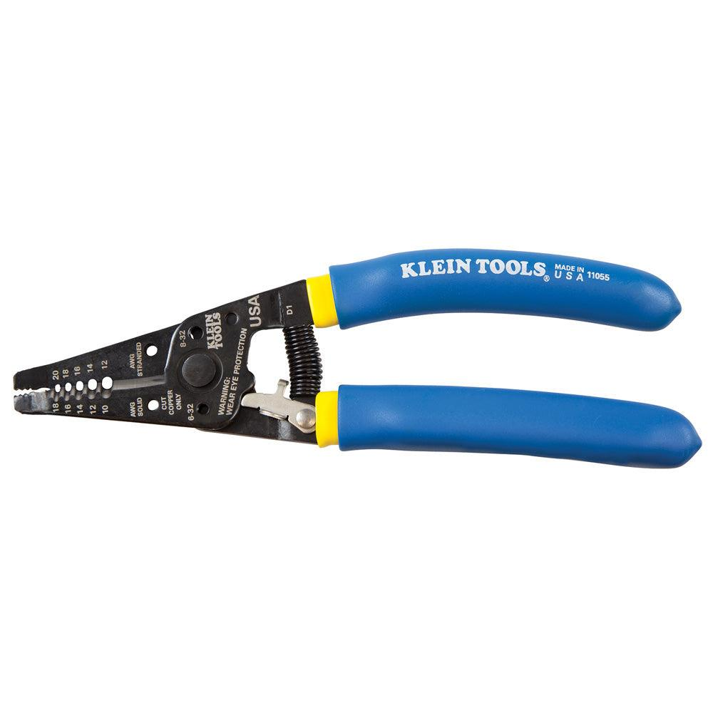 This Klein Copper wire stripper and cutter is a compact, lightweight tool that cleanly cuts solid and stranded copper wire. Its strong-gripping serrated nose is designed for easy bending, shaping, and pulling of wire.  SKU: KLE11055 UPC: 092644740572