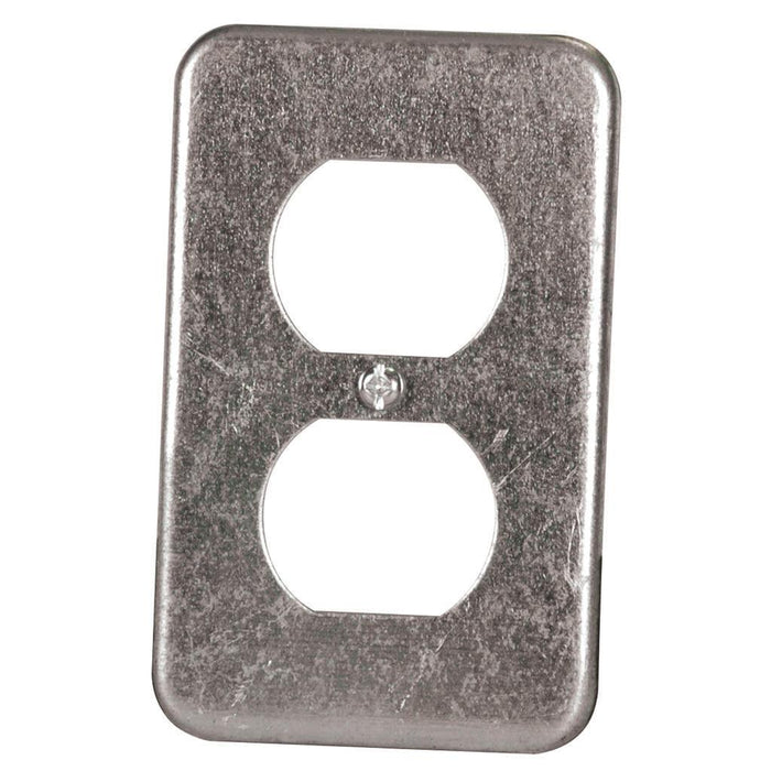 "Utility CVR 2.5X4"" - Utility Covers are used to close convenience outlets, switch boxes or small junction boxes. These wallplates can also be used as a single gang wallplates to cover duplex receptacles. SKU: HUB11C1BAR UPC: 626463000014"