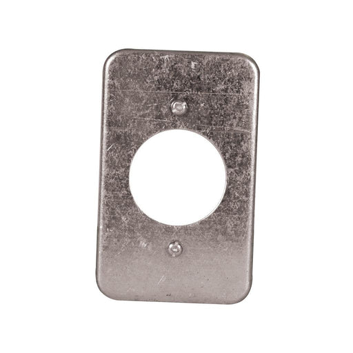 "Utility Cover 2.5X4inch 1.62inch - Utility Covers are used to close convenience outlets, switch boxes or small junction boxes. These utility covers can also be used as single-gang wall-plates to cover 1.625"" receptacles. SKU: HUB11C2H UPC: 626463043394"