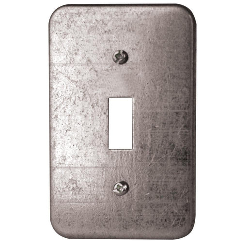 2.5X4 inch Toggle Switch Utility Cover- Utility Covers are used to close convenience outlets, switch boxes or small junction boxes. These utility covers can also be used as single-gang wallplates to cover toggle switches. SKU#: HUB11C5BAR UPC: 626463000052