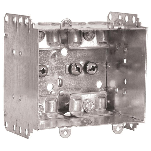 "Device Box 4X3X2.5"" 2G - Multi-Gang Device Boxes are used for outlets, switches, ceiling fixtures, and small junction boxes. They keep wires dry and are popular for surface mounted applications. SKU: HUB2104LLEU2BAR UPC: 626463020876"
