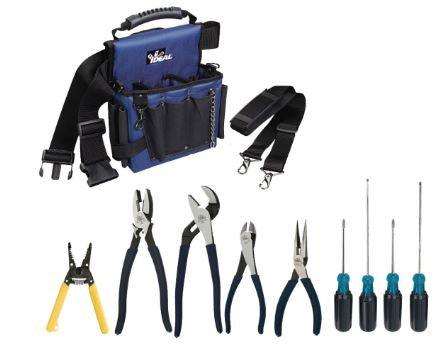 This IDEAL 11-piece tool kit includes the essential tools that every electrician needs, all packed into a convenient nylon tool bag. SKU: IDE30729CDN  UPC: 624141035143